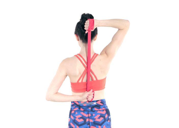 triceps avec des élastiques